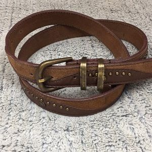 Free People Genuine Leather and Suede Belt